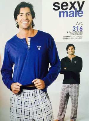 Pijama Hombre Oferta! Art. 316 Color Azul Talle Xxl