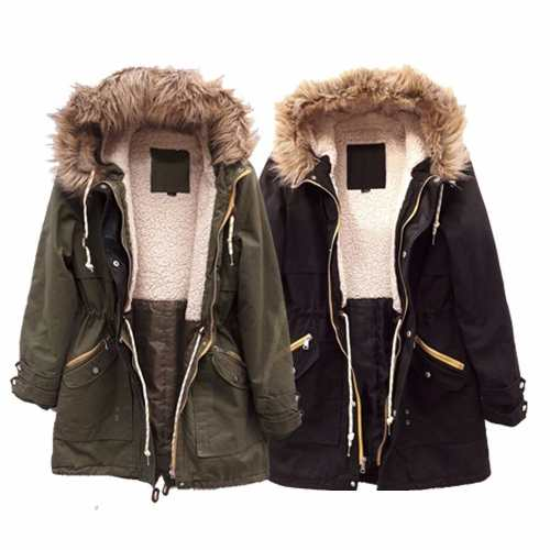 Campera Parka Militar Corderito Piel Deluxe The Big Shop  a65973d728df