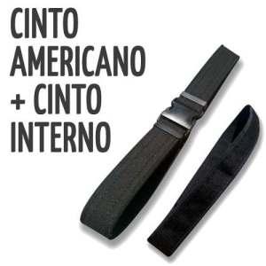 Cinto Americano + Cinto Interno Correaje Policial Militar