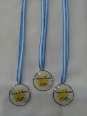 Combo Banda + Medalla Cinta Bandera Argentina  Promesa Cuart