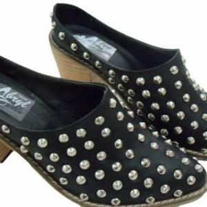Ed. Limitada Texanas Suecos Cuero Tachas Zuecos Zapato Abryl