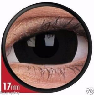 Lentes De Contacto Mini Sclera Black (negros) 17mm