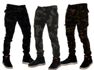 Pantalones Chupin Cargo Camuflado Elastizados  Jeans710