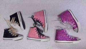 Zapatillas Botitas C/lentejuelas Para Fiestas Cumpleaños
