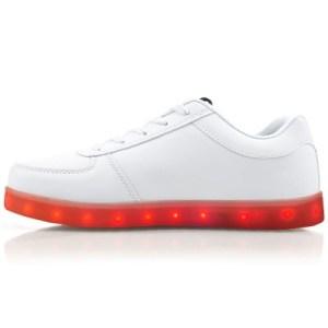 Zapatillas Luz Led Blancas Luces Niñas Unisex Recarga Usb