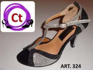 Zapatos De Tango Salsa Baile Mujer Talle 34 Al 41 Floresta.