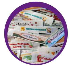 Cinta Identificadoras Personalizadas Plancha Ropa