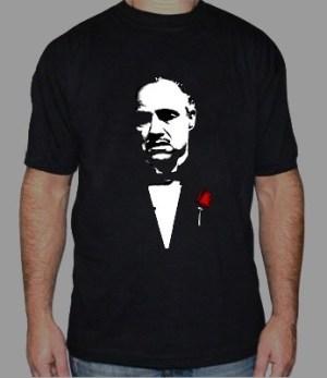 Marlon Brando El Padrino Corleone Remera Estampada C/ Vinilo