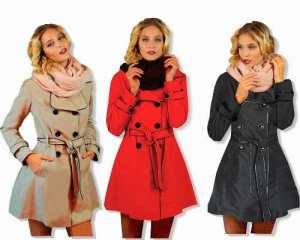 Piloto Impermeable Trench Vivos Negros Nuevo Mujer Way Voo