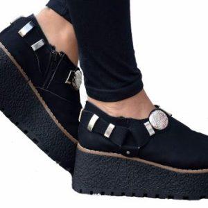 Zapatos Plataforma Con Moneda Tachas A/w 2017 Envio Gratis