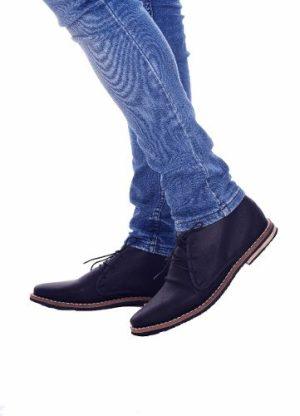 Customs Ba Zapatos Hombre Cuero Ecologico Zapato Negro Bota