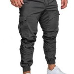 Pantalon Hombre Cargo Jogger Gabardina Elastizada