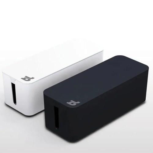 Caja recogecables Cablebox negro 1