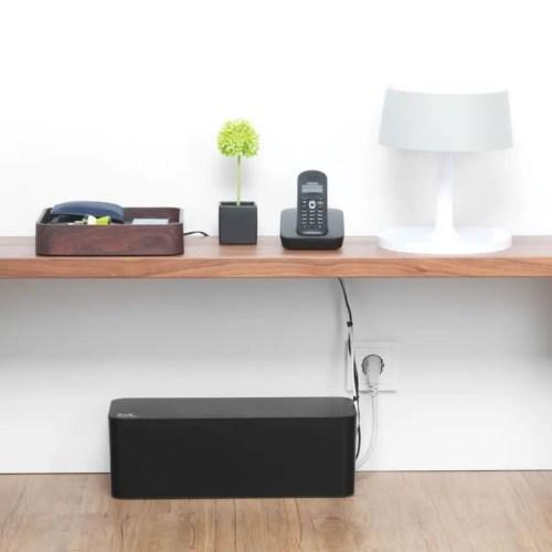 Caja recogecables Cablebox negro