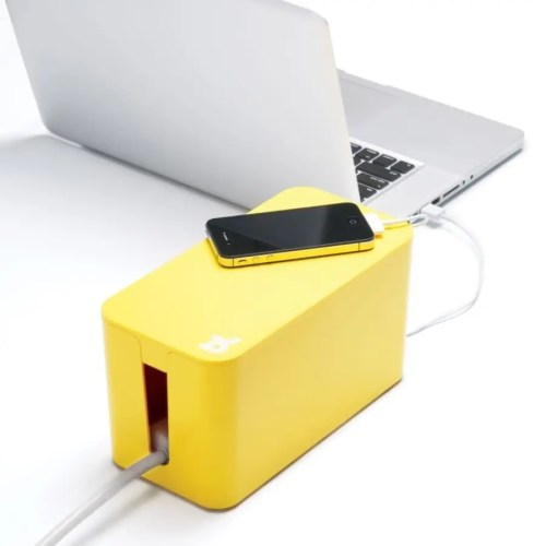 Caja recogecables Cablebox mini amarillo