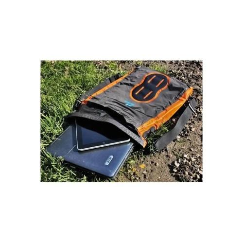 Mochila bolso Aquapac 025 IPX6 para ordenador portátil gris/naranja