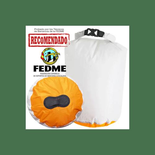 Bolsa auxiliar packdivider Aquapac 013 IPX6 de 13l blanco/naranja