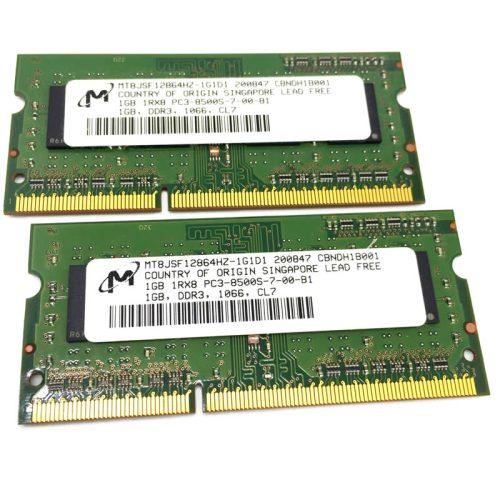 Módulo de memoria Micron SO-DIMM DDR3 1GB 1066 Mhz 1