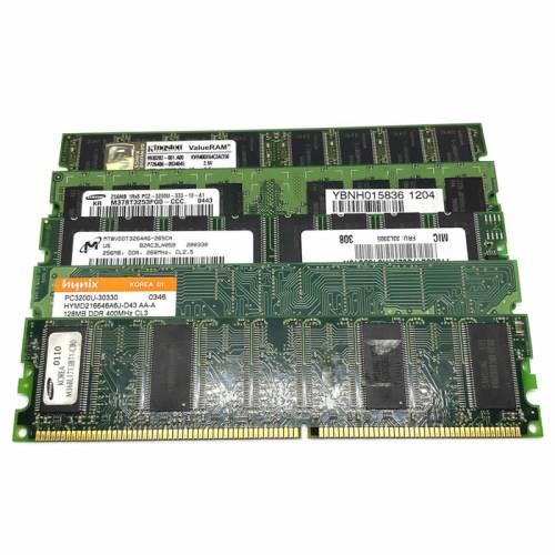 Modulo de memoria RAM DIMM DDR 128:256MB 266:333:400 Mhz
