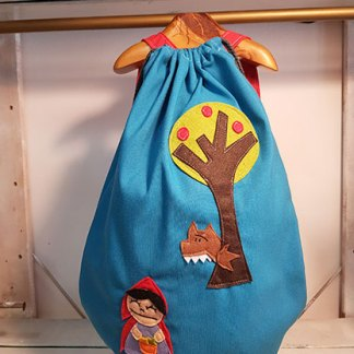 mochila infantil caperucita