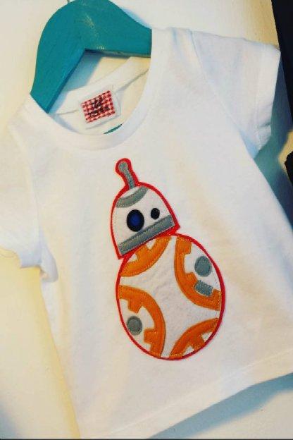 camiseta infantil de BB8