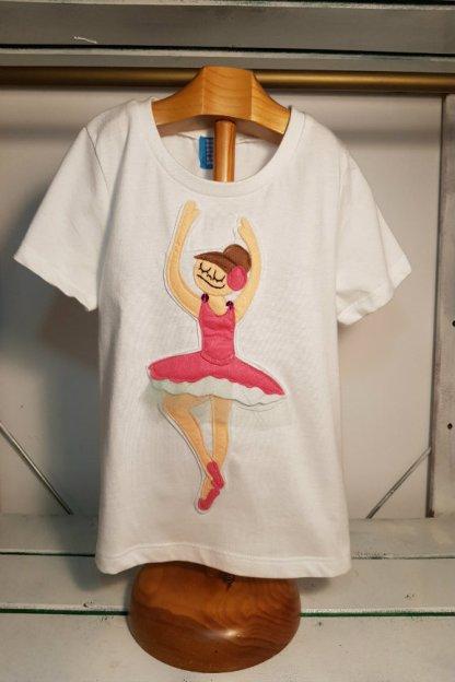 camiseta infantil de bailarina