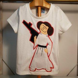 camiseta infantil de Leia
