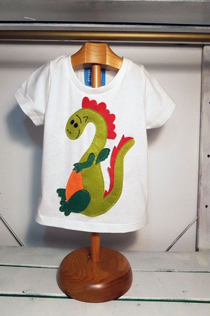 camiseta infantil Dragon