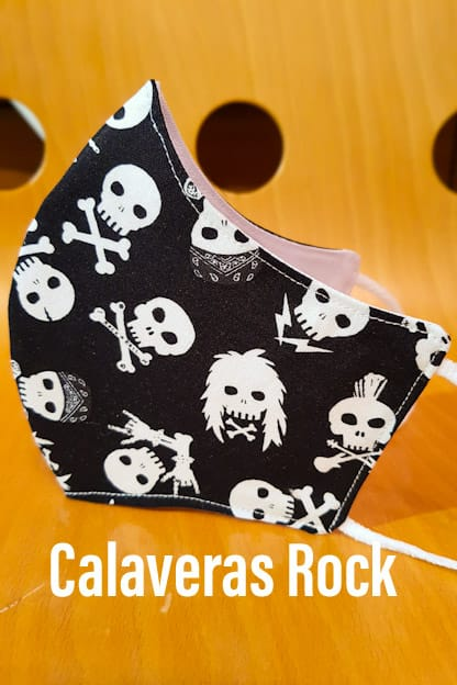 Mascarilla Calaveras Rock