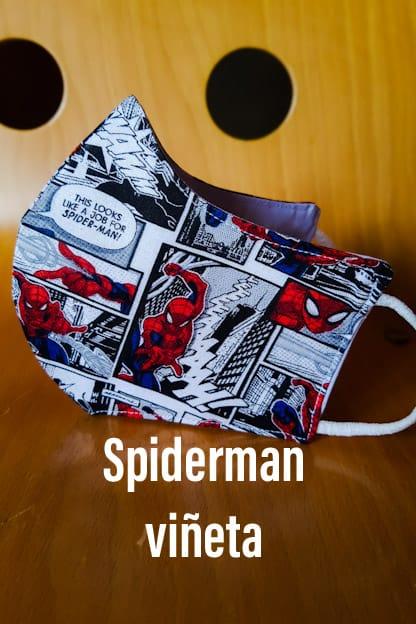 Mascarilla Spiderman viñeta