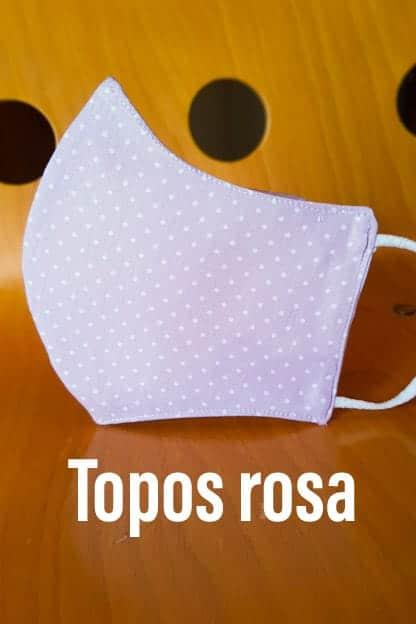 Mascarilla Topos rosa