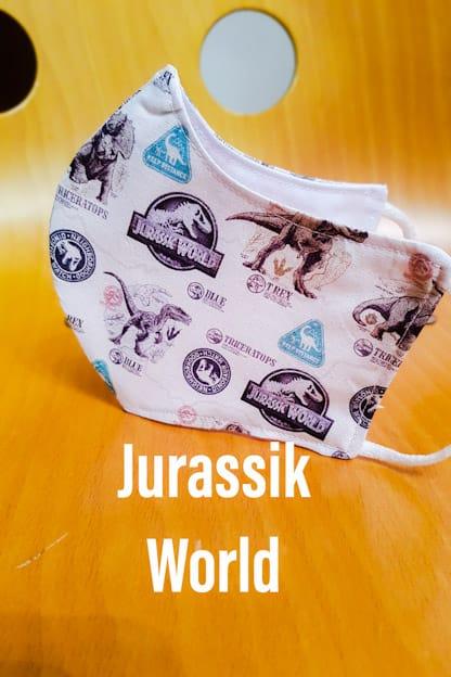 Mascarilla de tela Jurassik World