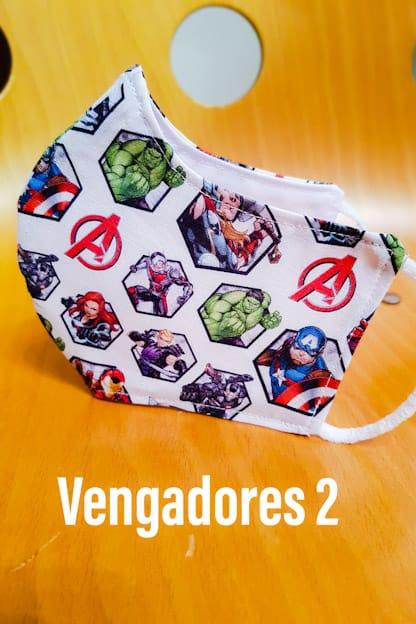 Mascarilla de tela Vengadores 2