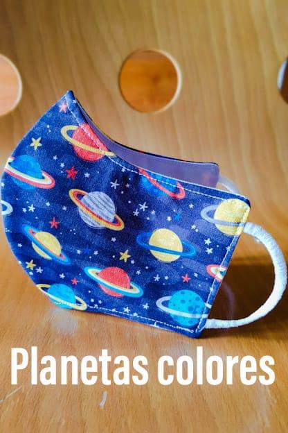 Mascarillas Planetas colores