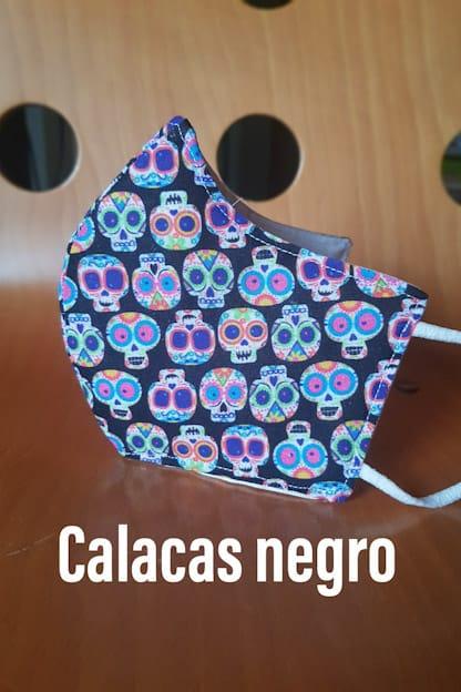 mascarilla Calacas negro
