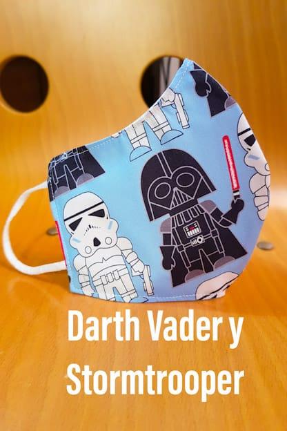 mascarilla Darth Vader y stormtrooper