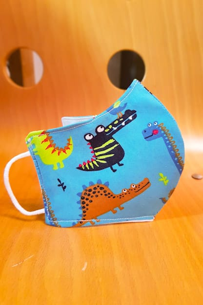 mascarilla Dino azul