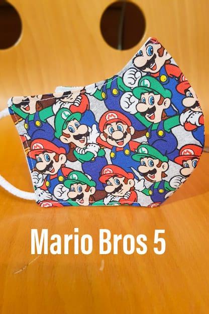 mascarilla Mario Bros 5