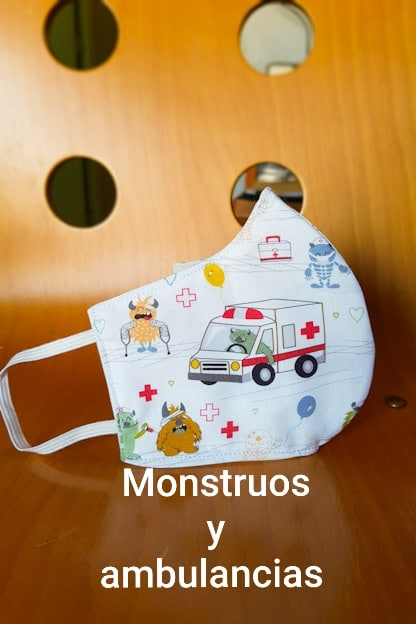 mascarilla Monstuos y ambulancias