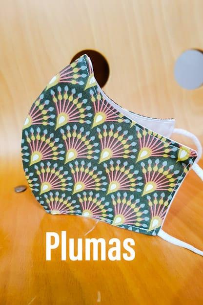 mascarilla Plumas