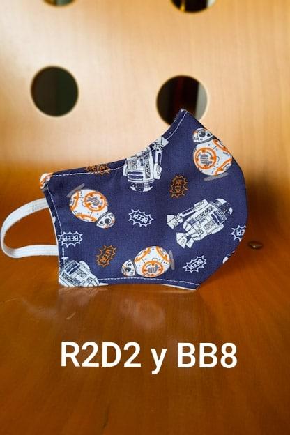 mascarilla R2D2 y BB8