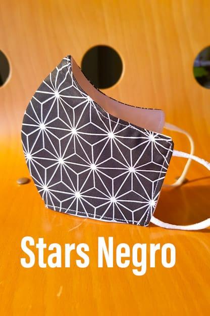 mascarilla stars negro