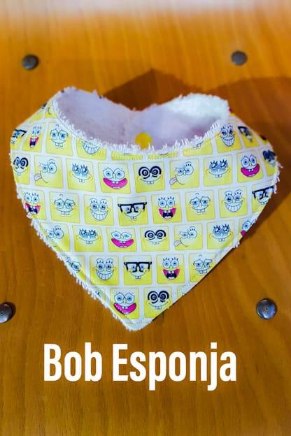 Bandana babero bebe Bob Esponja
