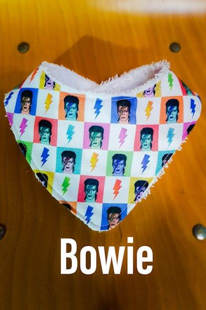 Bandana babero bebe Bowie