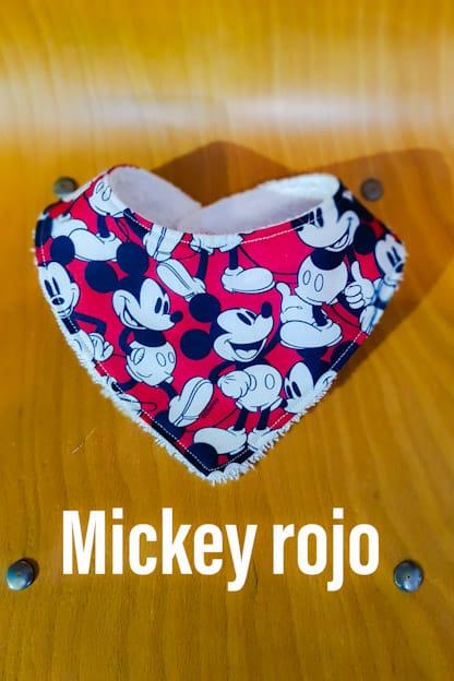Bandana babero bebe Mickey rojo