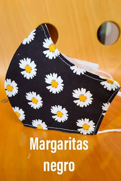 Mascarilla Margaritas negro