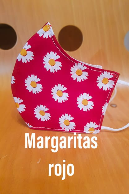 Mascarilla Margaritas rojo