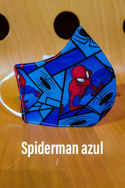 Mascarilla Spiderman azul