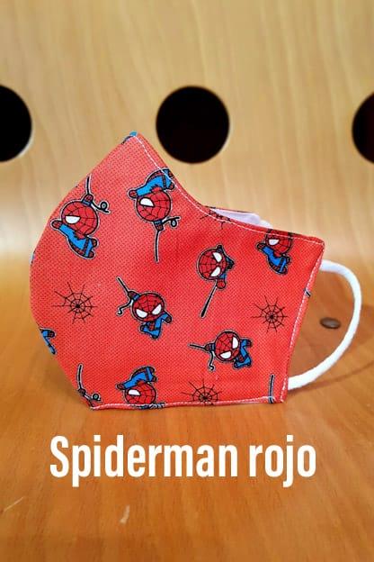 mascarilla Spiderman rojo