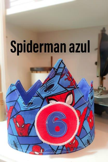 Corona de cumpleaños Spiderman
